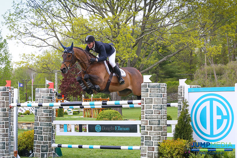 Douglas Elliman Real Estate is the presenting sponsor of the $15,000 Under 25 Grand Prix on Saturday, May 20, at the Old Salem Farm Spring Horse Shows; photo © Jump Media