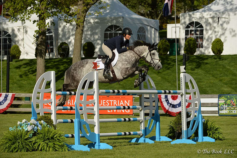 Beezie Madden won the $10,000 Open Jumper 1.45m riding Con Taggio on Thursday, May 11, during the 2017 Old Salem Farm Spring Horse Shows at Old Salem Farm in North Salem, NY; photo © The Book