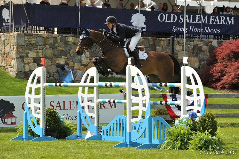 McLain Ward and HH Carlos Z won the $35,000 New York Welcome Stake CSI2* on Friday, May 12, during the 2017 Old Salem Farm Spring Horse Shows at Old Salem Farm in North Salem, NY; photo © The Book