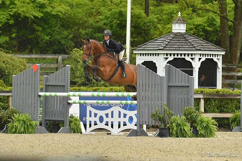 Taylor St. Jacques won the $5,000 Equitation Challenge riding Charisma on Saturday, May 13, during the 2017 Old Salem Farm Spring Horse Shows at Old Salem Farm in North Salem, NY; photo © The Book