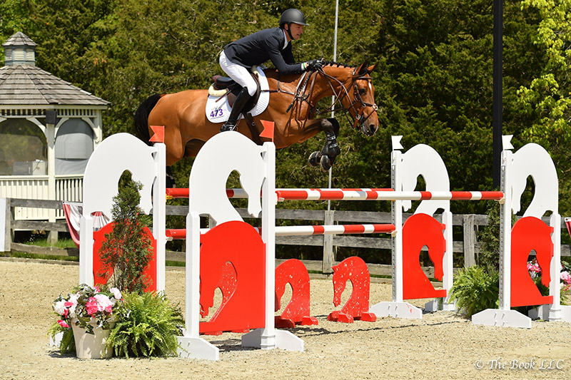 Andrew Ramsay and Cocq a Doodle took second place in the $50,000 Old Salem Farm Grand Prix, presented by The Kincade Group, on Sunday, May 14, during the 2017 Old Salem Farm Spring Horse Shows at Old Salem Farm in North Salem, NY; photo © The Book