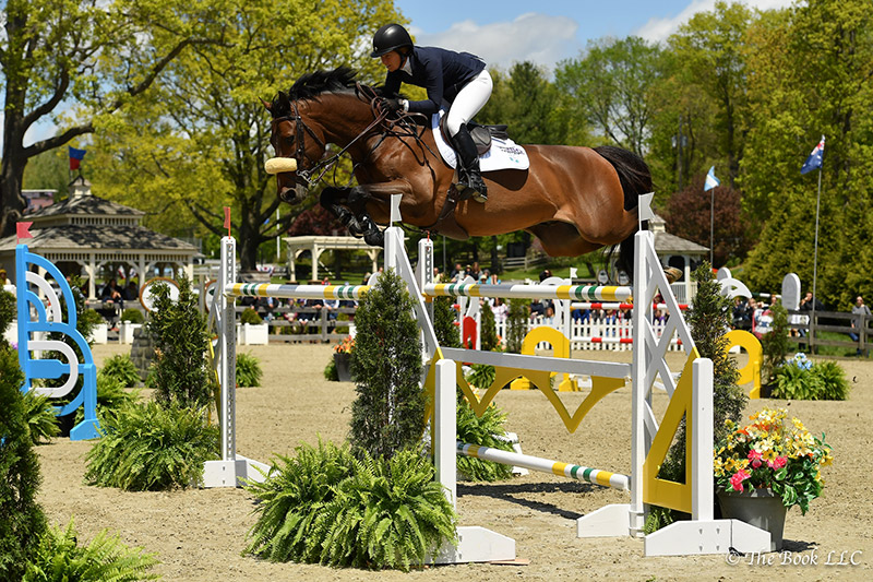 Beezie Madden and Breitling LS won the $50,000 Old Salem Farm Grand Prix, presented by The Kincade Group, on Sunday, May 14, during the 2017 Old Salem Farm Spring Horse Shows at Old Salem Farm in North Salem, NY; photo © The Book