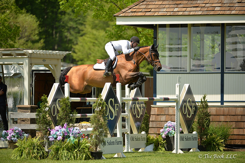 McLain Ward and Tina La Boheme placed second in the 35,000 Welcome Stake of North Salem CSI3* during the 2017 Old Salem Farm Spring Horse Shows at Old Salem Farm in North Salem, NY; photo © The Book