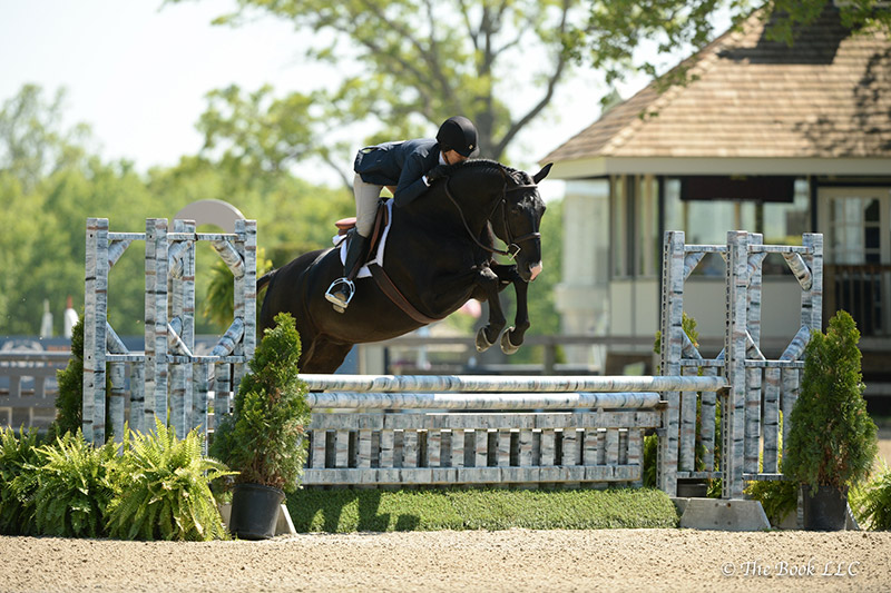 Tina Allen and French Kiss were champions in the Adult Amateur Hunter 36-49 Division to earn a Grand Adult Amateur Hunter Championship during the second week of the Old Salem Farm Spring Horse Shows at Old Salem Farm in North Salem, NY; photo © The Book