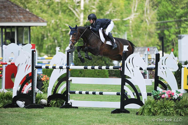 Sydney Shulman rode Venice to win the $5,000 Under 25 1.45m, presented by Douglas Elliman Real Estate, on Friday, May 19, during the 2017 Old Salem Farm Spring Horse Shows at Old Salem Farm in North Salem, NY; photo © The Book
