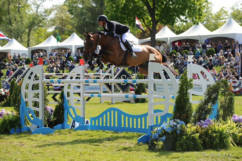 Andrew Ramsay and Cocq a Doodle won the $130,000 Empire State Grand Prix CSI3*, presented by The Kincade Group, on Sunday, May 21, to conclude the 2017 Old Salem Farm Spring Horse Shows at Old Salem Farm in North Salem, NY. Photo by The Book
