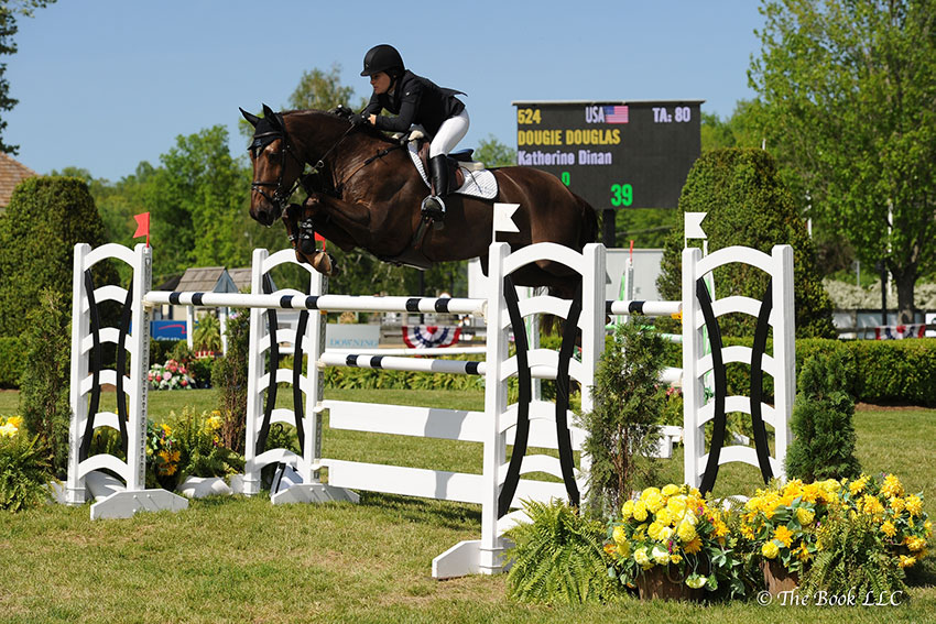 Katie Dinan and Dougie Douglas were second in the $130,000 Empire State Grand Prix CSI3*, presented by The Kincade Group, on Sunday, May 21, to conclude the 2017 Old Salem Farm Spring Horse Shows at Old Salem Farm in North Salem, NY. Photo by The Book