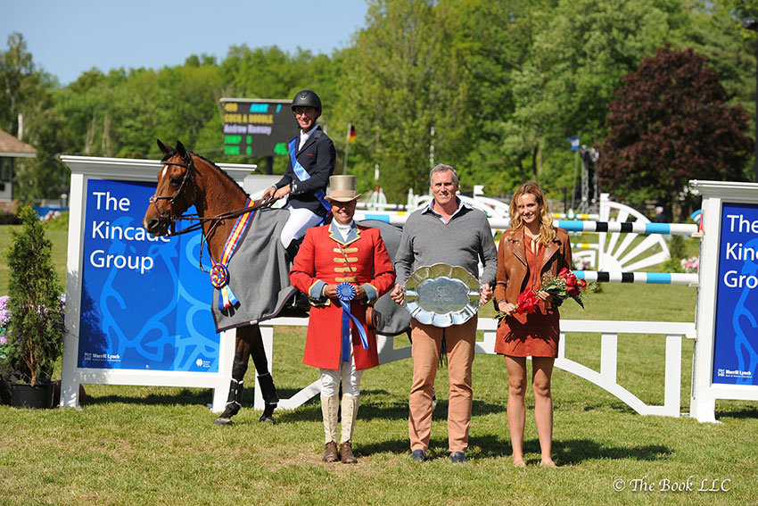 Longtime sponsor The Kincade Group will present both the $50,000 Old Salem Farm Grand Prix CSI2* on Sunday, May 13, and the $131,000 Empire State Grand Prix CSI3* on Sunday, May 20, at the Old Salem Farm Spring Horse Shows. Photo by The Book