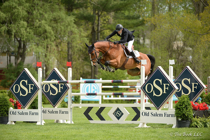 Captain Brian Cournane topped the $35,000 New York Welcome Stake CSI2*, presented by Douglas Elliman Real Estate, riding Armik on Friday, May 11, during the 2018 Old Salem Farm Spring Horse Shows at Old Salem Farm in North Salem, NY. Photo by The Book