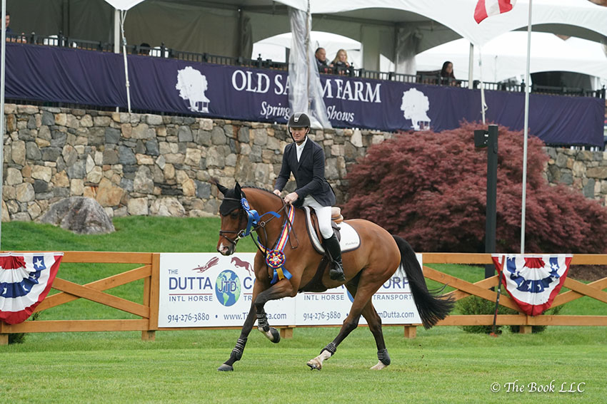 McLain Ward and Dakota lead victory gallop after the $15,000 Old Salem Farm Speed Derby, presented by TownVibe, on Saturday, May 12, during the 2018 Old Salem Farm Spring Horse Shows at Old Salem Farm in North Salem, NY. Photo by The Book