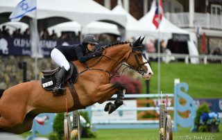 Adrienne Sternlicht won her first grand prix in the $50,000 Old Salem Farm Grand Prix CSI2*, presented by The Kincade Group, riding Toulago on Sunday, May 13, during the 2018 Old Salem Farm Spring Horse Shows at Old Salem Farm in North Salem, NY. Photo by The Book