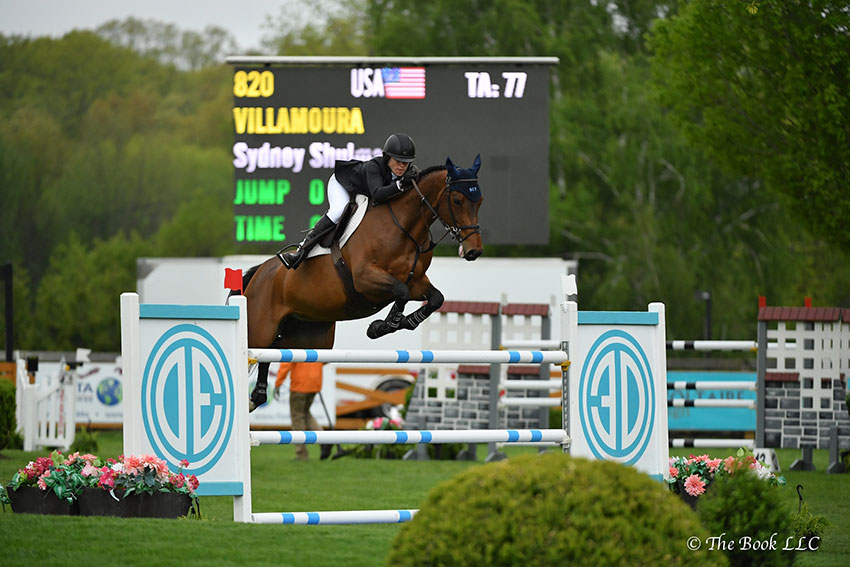 Sydney Shulman finished second in the $50,000 Old Salem Farm Grand Prix CSI2*, presented by The Kincade Group, riding Villamoura on Sunday, May 13, during the 2018 Old Salem Farm Spring Horse Shows at Old Salem Farm in North Salem, NY. Photo by The Book