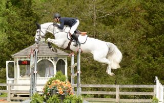 McLain Ward (USA) won the $35,000 Welcome Stake of North Salem CSI3* riding Clinta on Thursday, May 17, during the 2018 Old Salem Farm Spring Horse Shows at Old Salem Farm in North Salem, NY. Photo by The Book
