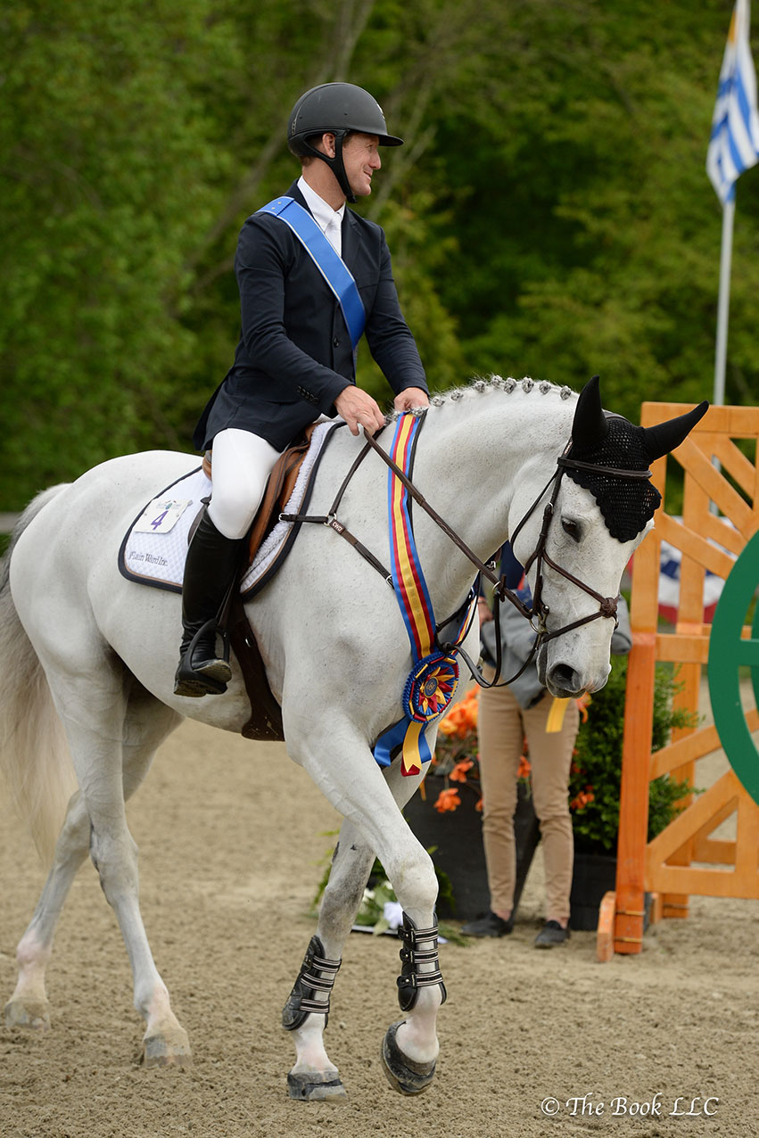 McLain Ward (USA) and Clinta were presented as winners of the $35,000 Welcome Stake of North Salem CSI3* on Thursday, May 17, during the 2018 Old Salem Farm Spring Horse Shows at Old Salem Farm in North Salem, NY. Photo by The Book