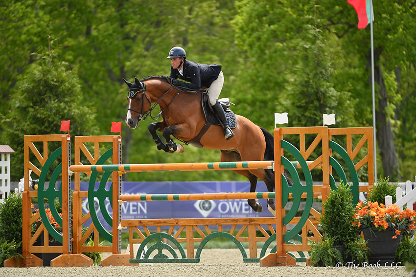 Mattias Tromp of North Salem, NY, won the $5,000 Under 25 Jumper 1.45m riding Avon on Friday, May 18, during the 2018 Old Salem Farm Spring [...] </p> </body></html>