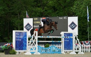 Switzerland's Beat Mändli and Simba won the $131,000 Empire State Grand Prix CSI3*, presented by The Kincade Group, on Saturday, May 20, during the 2018 Old Salem Farm Spring Horse Shows at Old Salem Farm in North Salem, NY. Photo by The Book