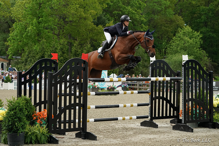 Brianne Goutal-Marteau and Viva Colombia were third in the $131,000 Empire State Grand Prix CSI3*, presented by The Kincade Group, on Saturday, May 20, during the 2018 Old Salem Farm Spring Horse Shows at Old Salem Farm in North Salem, NY. Photo by The Book