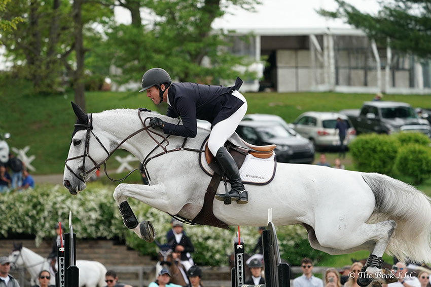 McLain Ward and Clinta were second in the $131,000 Empire State Grand Prix CSI3*, presented by The Kincade Group, on Saturday, May 20, during the 2018 Old Salem Farm Spring Horse Shows at Old Salem Farm in North Salem, NY. Photo by The Book