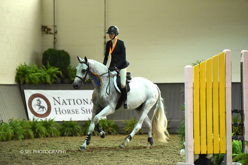 Annabel Revers rode Quax to a win in the Region 1 ASPCA/NHSAA Maclay Championships on Saturday, September 22, at Old Salem Farm. Photo by SEL Photography