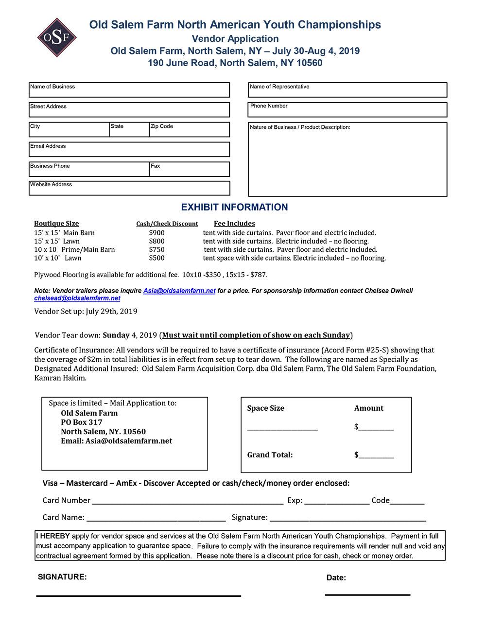 Download Vendor Application